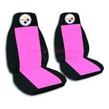 steelers car seat covers cover 2 black and hot pink jeep for a door pittsburgh steelers car seat covers