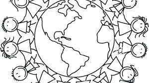 Children Of The World Coloring Pages Children Around The World