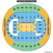 Portland Memorial Coliseum Detailed Seating Chart Portland Memorial Coliseum Seating Chart