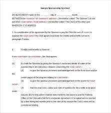 sponsorship agreement sponsorship agreement example fresh sponsorship agreement lovely