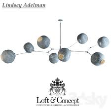 3d models ceiling light chandelier lindsey adelman branching bubble chandelier