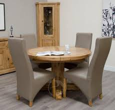 coniston rustic solid oak round extending dining table on tables