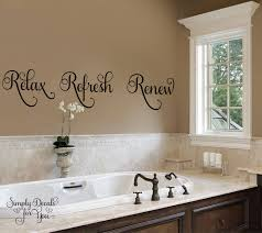 Wall Sticker Bathroom Relax Refresh Renew Bathroom Wall Decal Bathroom Decal Wall