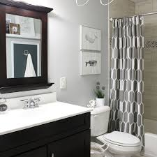 Bathroom decor, Amazing Black Rectangle Modern Wood Guest Bathroom Ideas  Stained Design: Best Guest ...