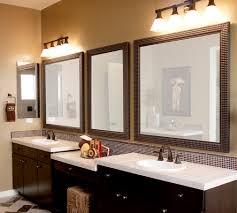 bathroom mirrors and lighting ideas. Bathroom Mirrors: Brown Mirror Artistic Color Decor Simple In Mirrors And Lighting Ideas
