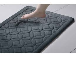 vcny home chanel 24x60 memory foam bath runner 24 x 60 black for bathroom rug runner