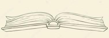 vector drawing open book in hardcover stock vector