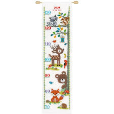 Cross Stitch Height Chart Kit Vervaco Cross Stitch Pattern Forest Animals Height Chart