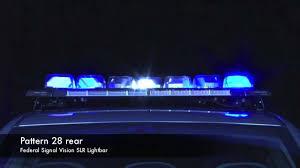 Federal Signal Solaris Light Bar Federal Signal Vision Slr Lightbar Flash Patterns