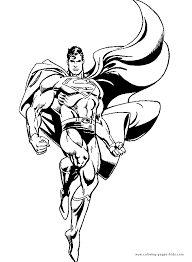 Small Picture Superman color page cartoon characters coloring pages color