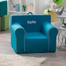 Teal Chair Here And There Personalized Kids Chair Navy Canvas Hayneedle