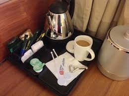 A tray is a foundational piece for your coffee table decor because it anchors the look, creates a zone, and is a super clever way of arranging small objects into an intentional grouping. Nice Set Up Tray Picture Of Hilton Garden Inn Frankfurt Airport Frankfurt Tripadvisor
