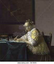 a lady writing a letter 1665 1670 artist vermeer jan johannes 1632 de75kw