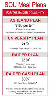 Meal Plans - Southern Oregon University | Campus Dining By A'viands