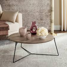 mae retro mid century wood light gray coffee table