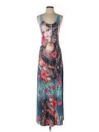 Details About Crimson Ivy Women Blue Casual Dress M