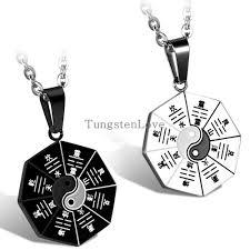 mystical yin yang pendant necklace