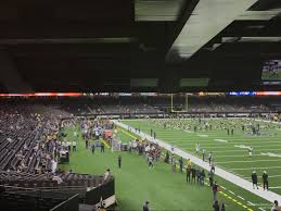 Mercedes Benz Superdome Seating Chart With Rows Superdome Section 107 New Orleans Saints Rateyourseats Com