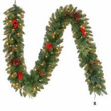 pre lit artificial winslow fir garland with 190