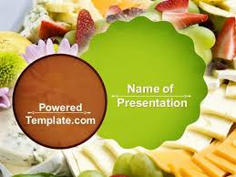 Food Presentation Template Baby Shower Food Powerpoint Template By Poweredtemplate Com