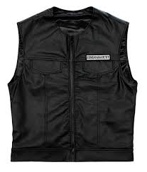 sons of anarchy leather vest soa
