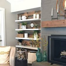 modern floating shelves thin and a rustic planked wall for the win we knocked down next modern floating shelves