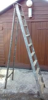 8 foot wooden ladder vintage 8 feet tall wooden step ladder very good used condition ideal loft ladder keller 8 ft wooden ladder