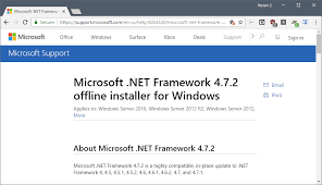 microsoft net framework 4 7 2 released