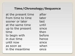 Chronological Words Chronology Words Barca Fontanacountryinn Com