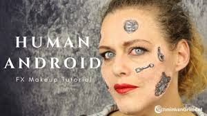 human android makeup tutorial robot makeup