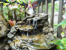 small garden pond waterfalls rock srw 018
