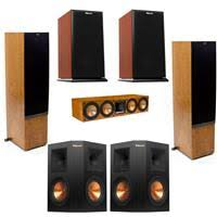 klipsch 2x rp 440wf hd premiere hd wireless floorstanding speaker w audio bundle. 2x rf-7 ii floorstanding speaker, cherry - bundle klipsch rp 440wf hd premiere wireless speaker w audio