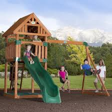 costco play structure backyard playground equipment amish swing sets