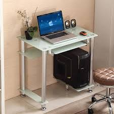 small office computer desk. Small Home Computer Desk Simple Glass Top Modern Table Office Laptop R