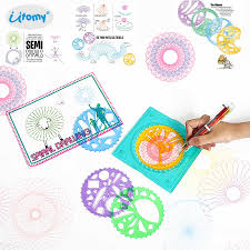 How To Use Spirograph Design Set Spirograph Set Spiral Designs Drawing Kit With 4 Drawing