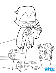 Small Picture Teen titan raven coloring pages Hellokidscom
