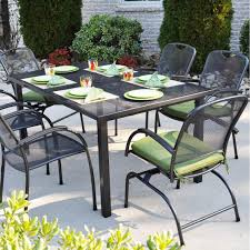 kettler monte carlo wrought iron spring rocker patio dining arm chair ultimate patio