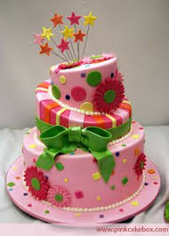 awesome birthday cakes for 11 year old girls google search 11 Year Old Cakes continuing this week's bat mitzvah cake theme, this 3 tier topsy turvy cake is covered in pink, lime, yellow and orange confetti and polka dots cakes for 11 year old girls