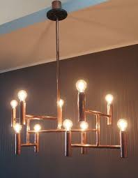 vintage copper pipe chandelier elegant dining living or retail ceiling light fixture