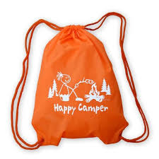 Happy Camper Girl Nylon <b>Cinch Sack</b>   Mountain <b>Graphics</b>