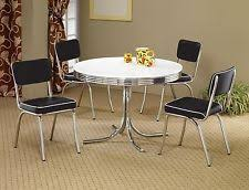 retro style furniture cheap. fine furniture 1950s style chrome retro dining table set black chairs room furniture  to retro style furniture cheap