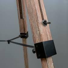 industrial wood tripod floor lamp base