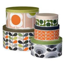 Designer Cake Tins Orla Kiely Cake Tins Set Of 5 Home Baking Storage Wild