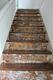Painted Wood Stairs Staining And Painting Wood Stairs A Bit Of Bermuda Sunshine
