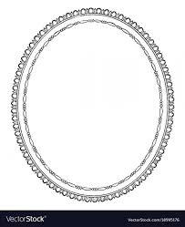 vintage frame design oval. Simple Vector Frame Designs: Oval Is Design Vintage Engraving