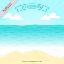 Seashore Background Vector Free Download