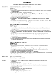 Personal Assistant Job Description For Resume Executive Personal Assistant Resume Samples Velvet Jobs 68