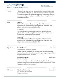 Libreoffice Resume Template Resume For Study