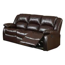 Venetian Worldwide Winslow Bonded Leather Match Recliner Sofa