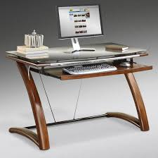 interior rectangle brown wooden desk awesome home office ideas glass computer